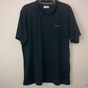 Men's Columbia Short Sleeve Polo Shirt. Green XL